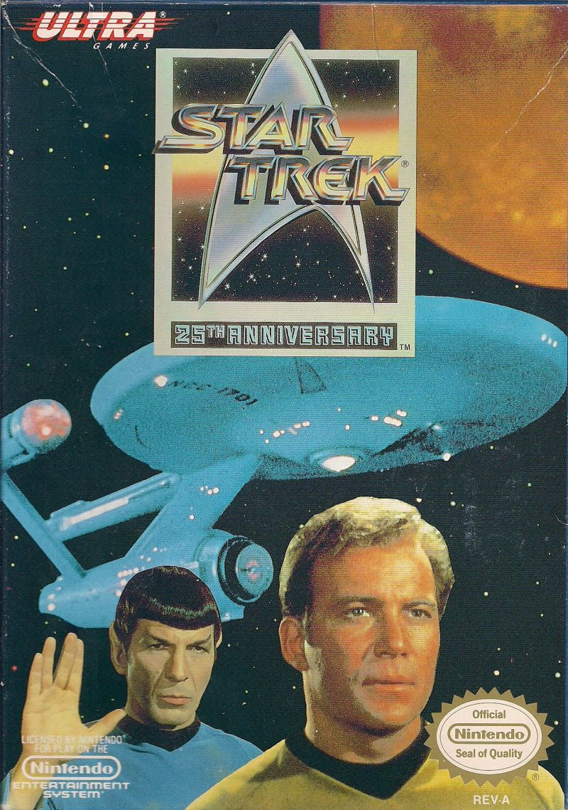 Star Trek: 25th Anniversary NES Front Cover