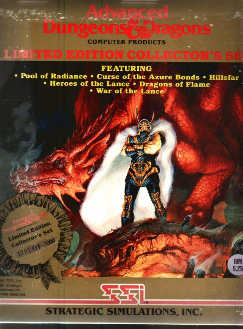 Advanced Dungeons & Dragons (Limited Edition Collector's Set) DOS Front Cover