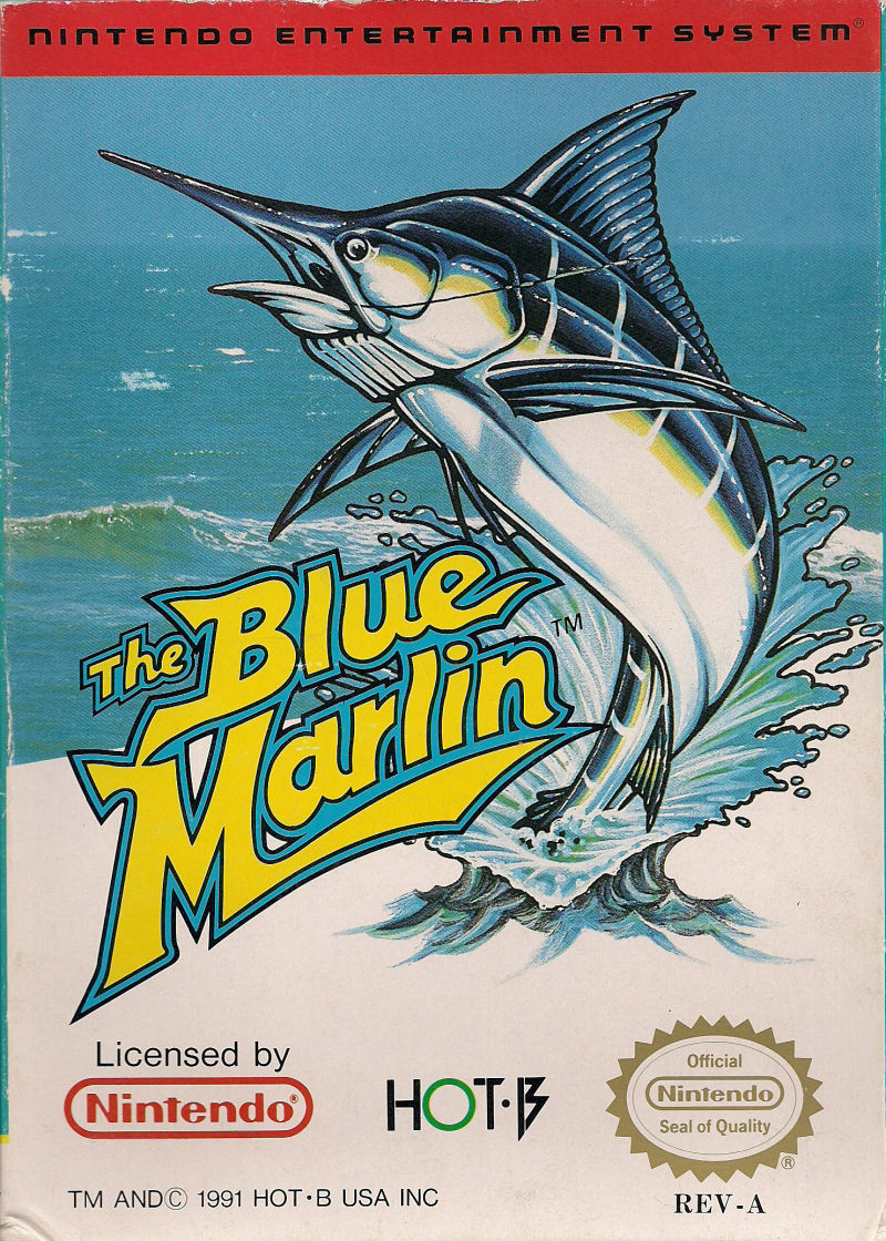 The Blue Marlin NES Front Cover