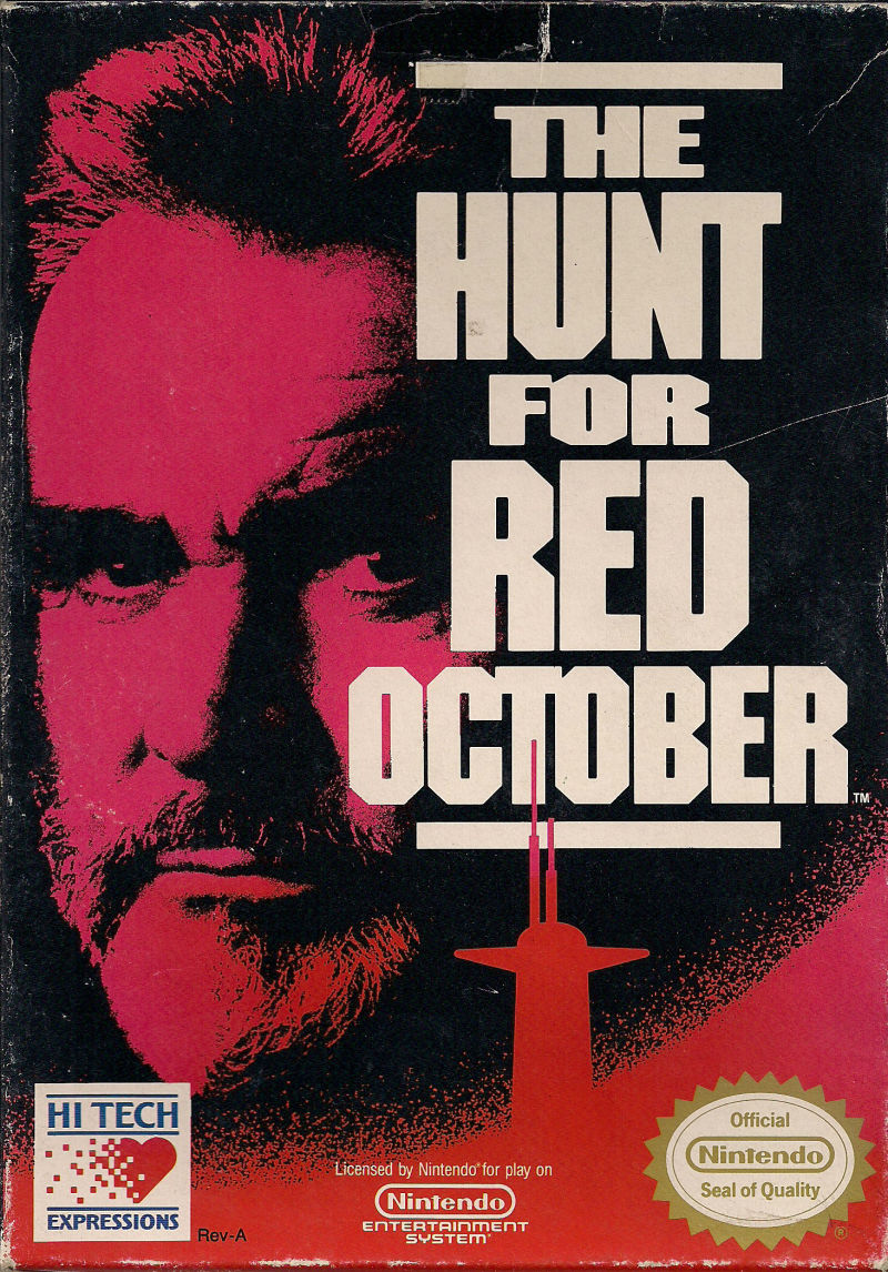 The Hunt for Red October NES Front Cover