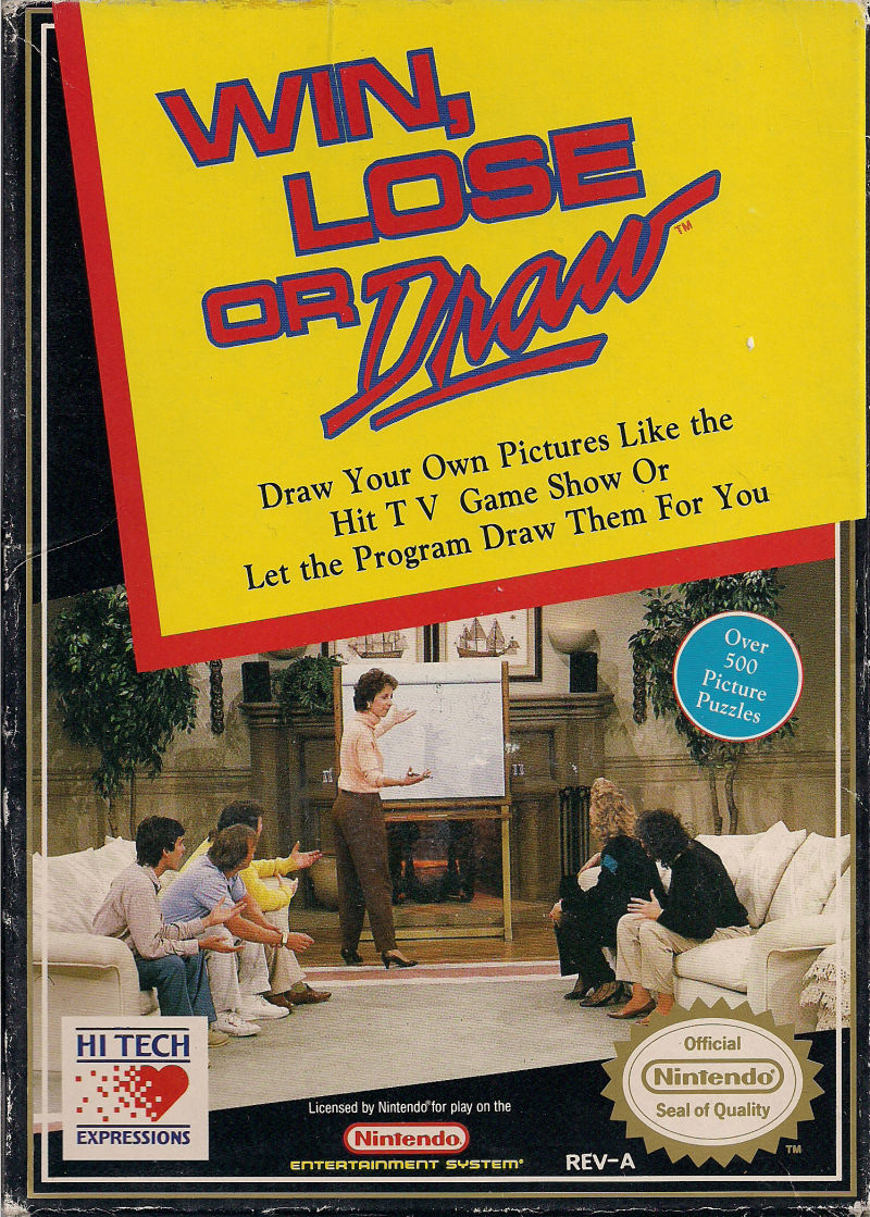 Win Lose Or Draw 1990 Nes Box Cover Art Mobygames