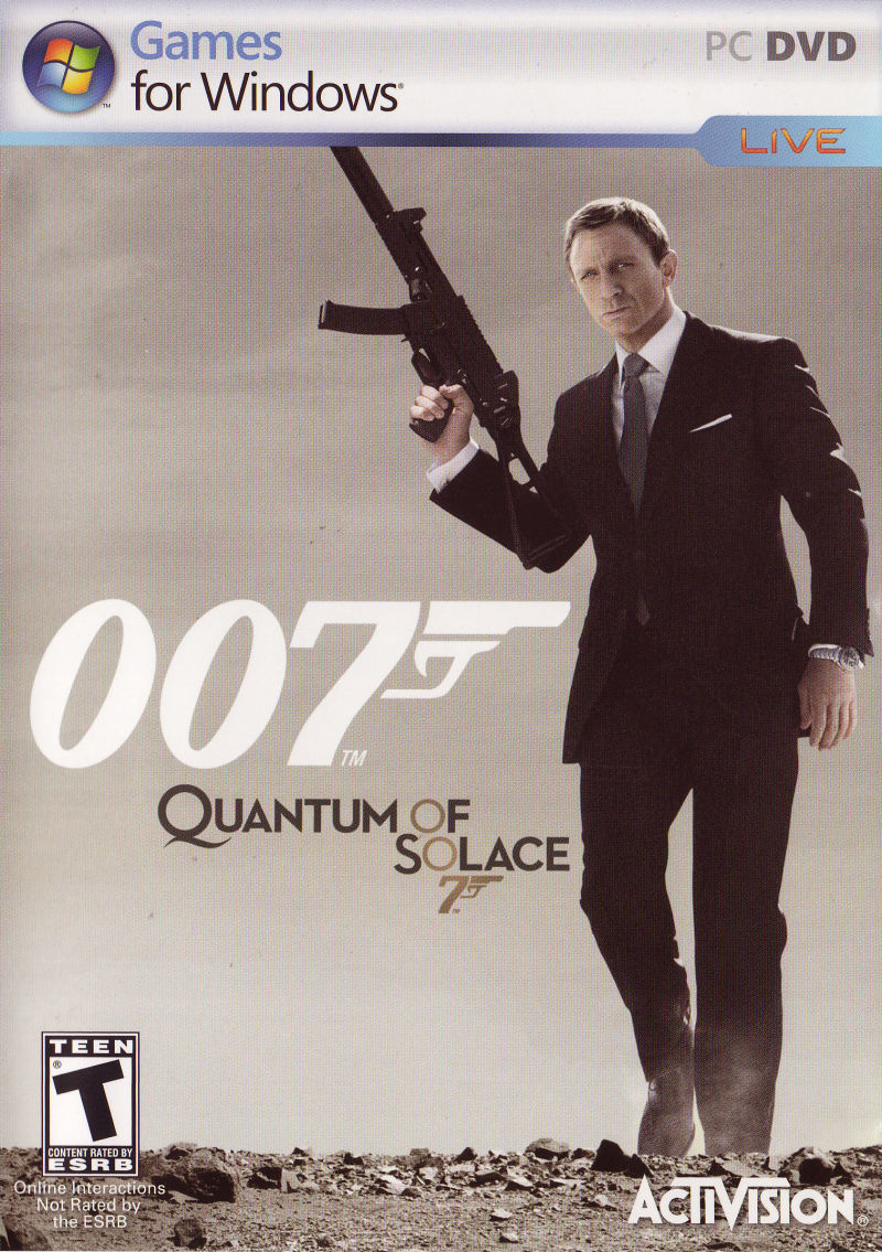 007: Quantum of Solace Windows Front Cover