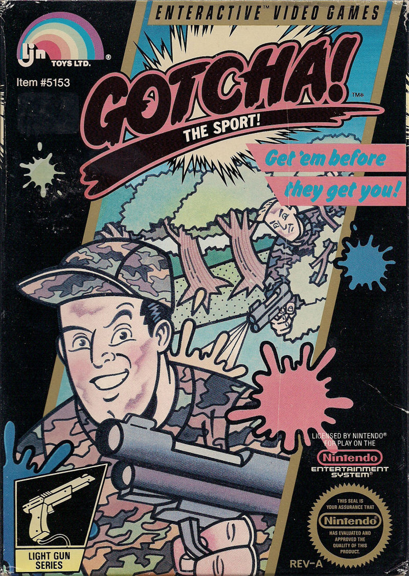 Gotcha! The Sport! NES Front Cover