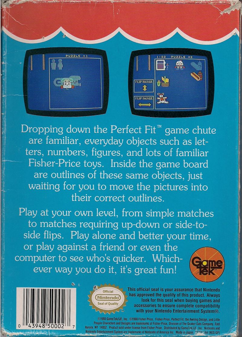 Fisher-Price Perfect Fit NES Back Cover