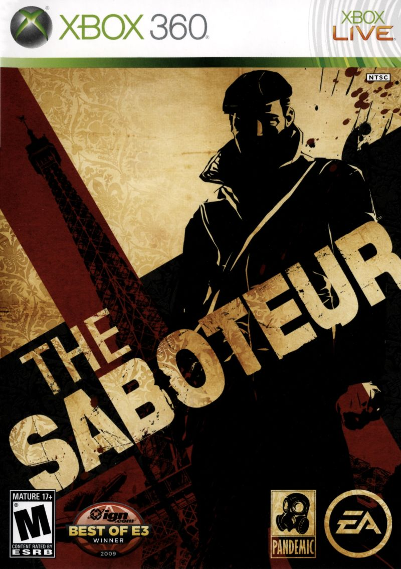 The Saboteur Xbox 360 Front Cover