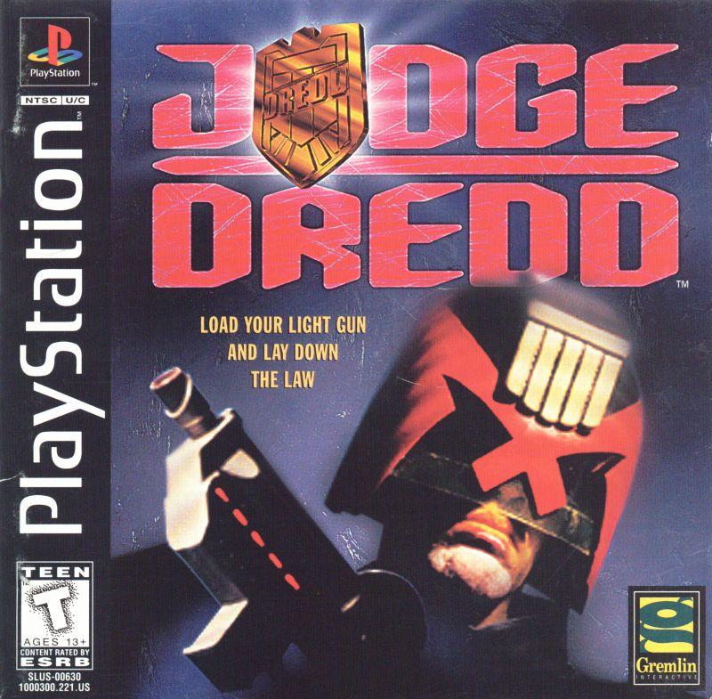 Judge Dredd PlayStation Front Cover