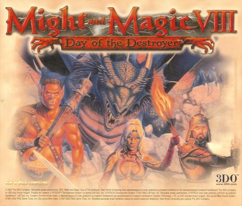Might and Magic IX Windows Other Jewel case - back