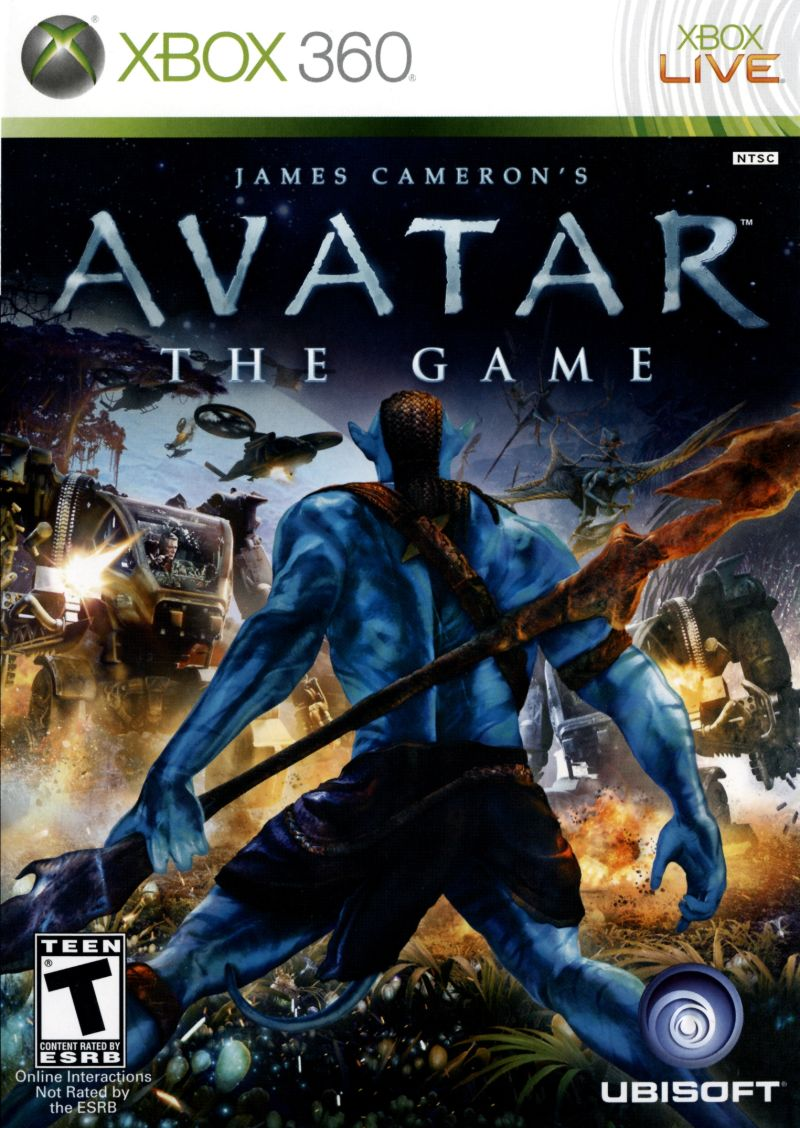 James Cameron's Avatar: The Game (2009) Xbox 360 box cover art ...: mobygames.com/game/xbox360/james-camerons-avatar-the-game/cover-art...
