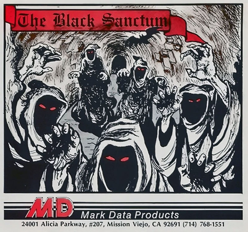 The Black Sanctum TRS-80 CoCo Front Cover