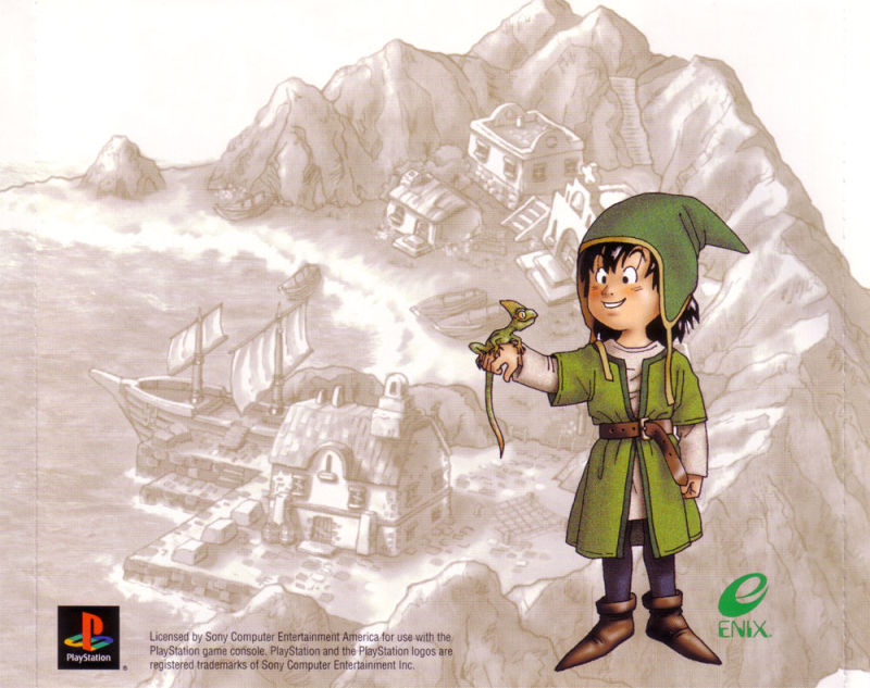 Dragon Warrior VII PlayStation Inside Cover Inlay