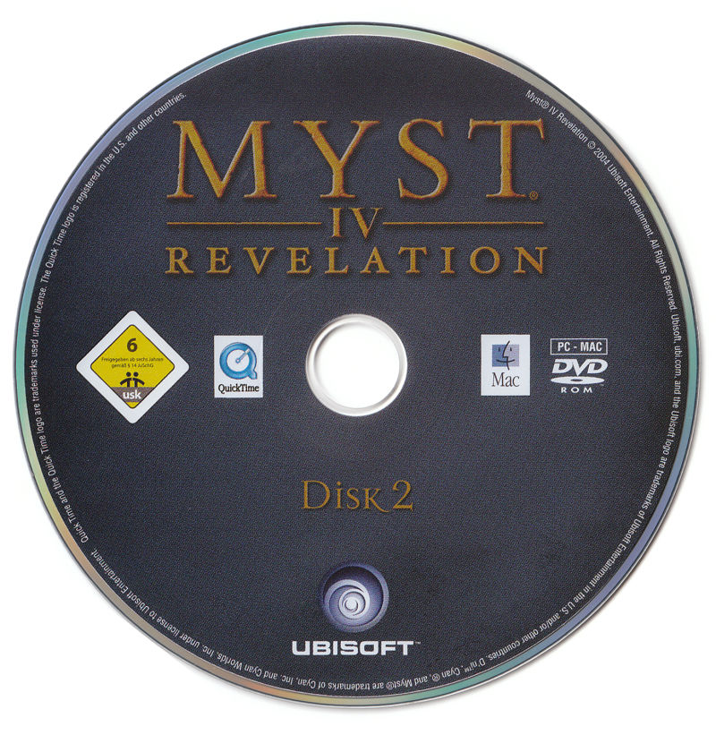 Myst IV: Revelation Macintosh Media Disc 2