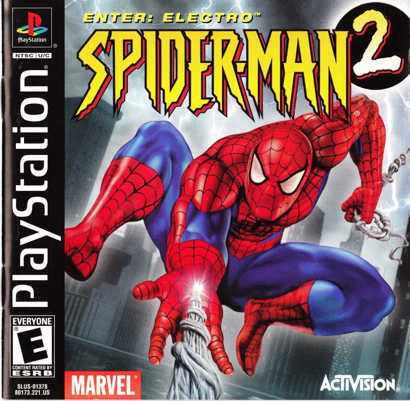 Spider-Man 2: Enter: Electro (2001) PlayStation box cover ... Spider Man Electro