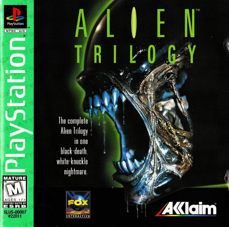 Alien Trilogy PlayStation Front Cover