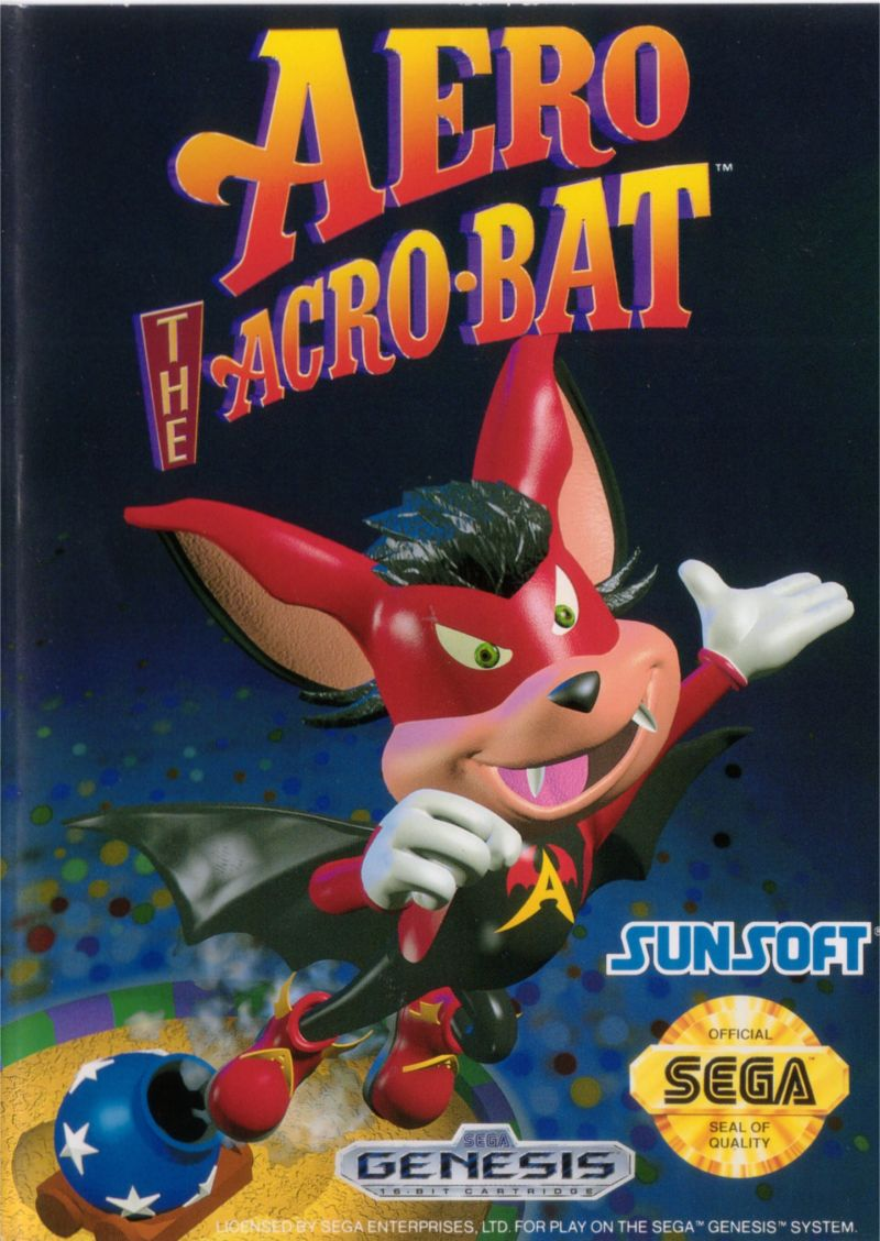 Aero the Acro-Bat Genesis Front Cover