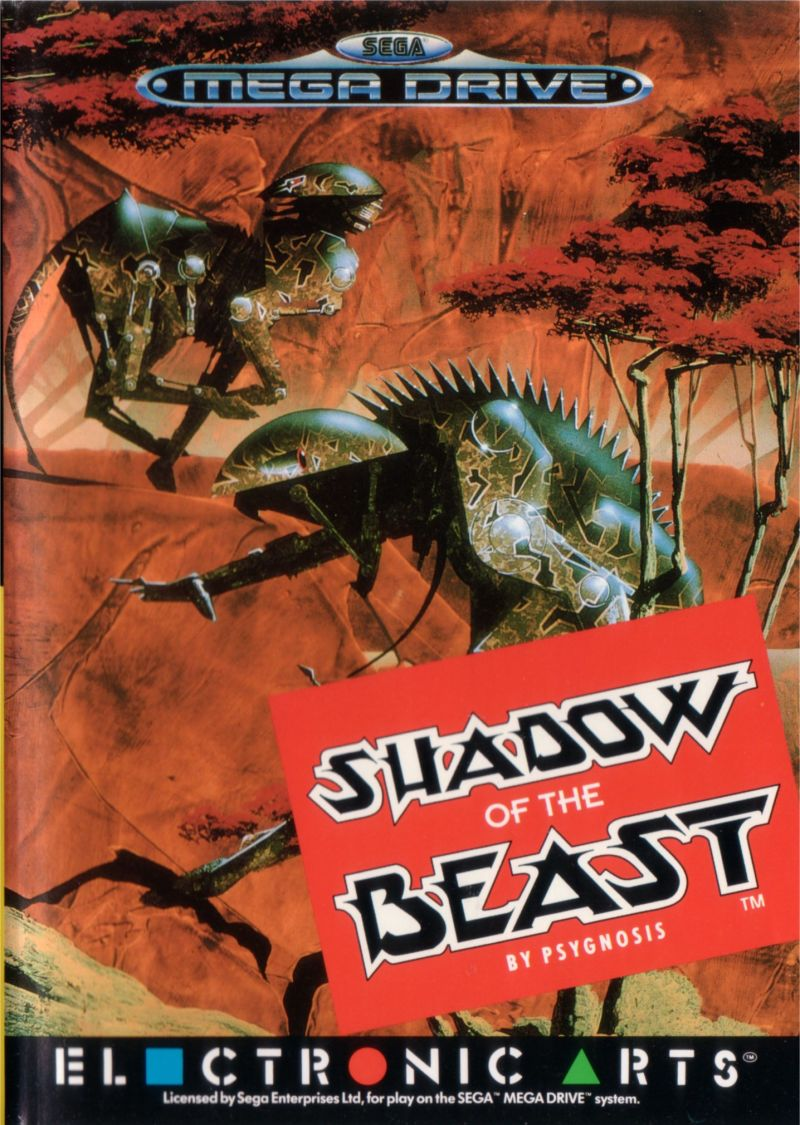 Shadow of the Beast Genesis Front Cover