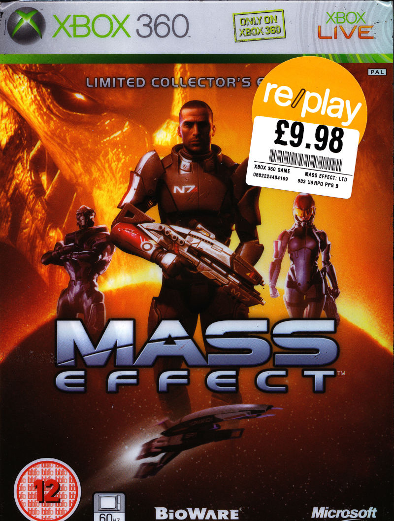 Mass Effect (Limited Collector's Edition) Xbox 360 Front Cover Sleeve