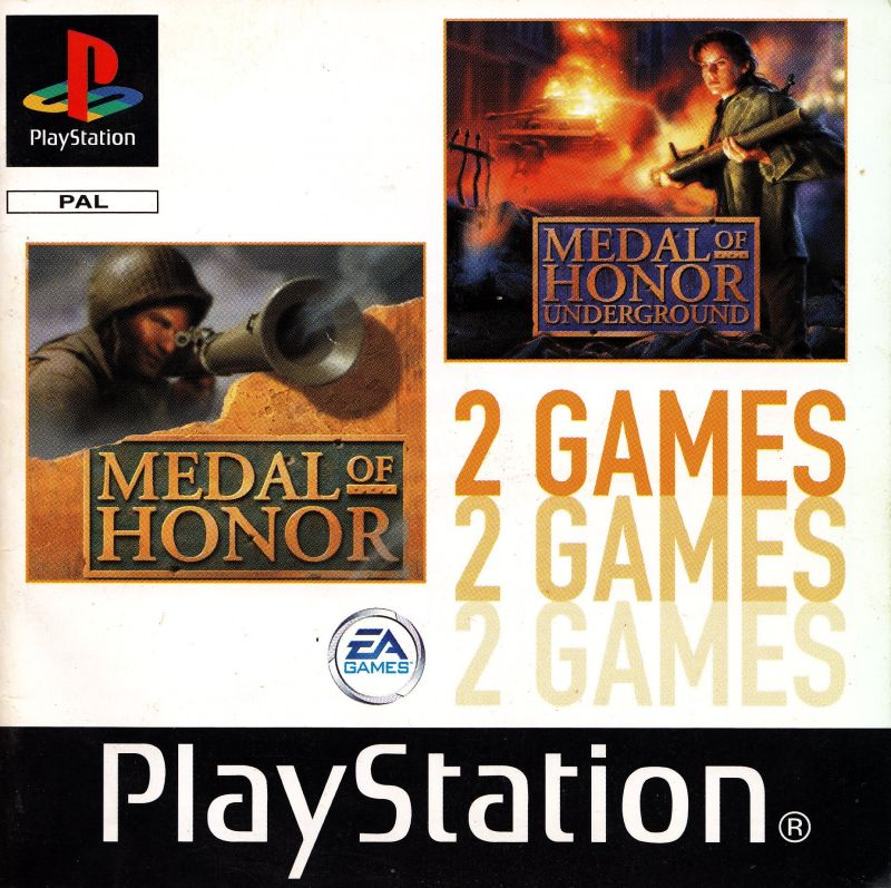 Medal of Honor / Medal of Honor: Underground PlayStation Front Cover Also manual front