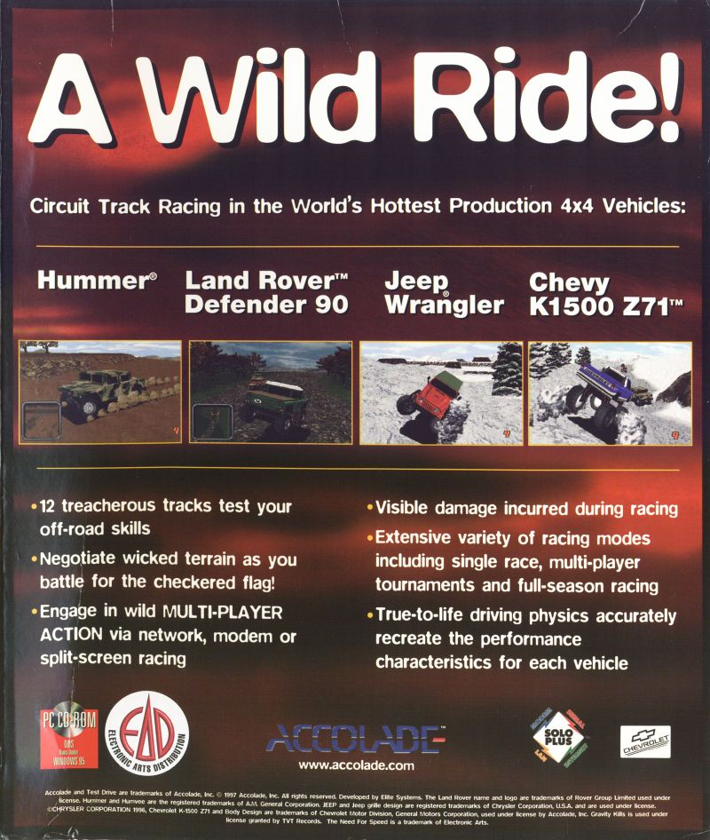 Test Drive: Off-Road DOS Back Cover