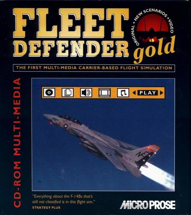 F-14 Fleet Defender Gold Windows 3.x Front Cover