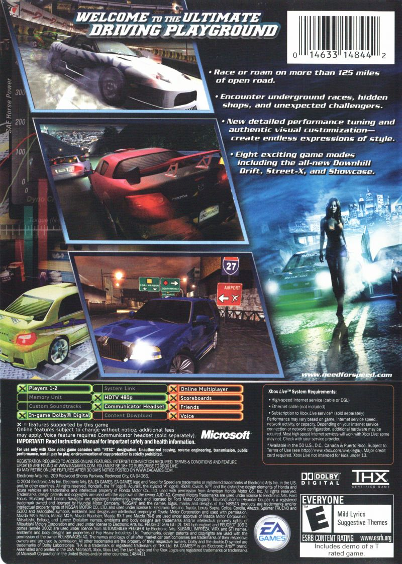 Need For Speed Underground 2 2004 Xbox Box Cover Art Mobygames