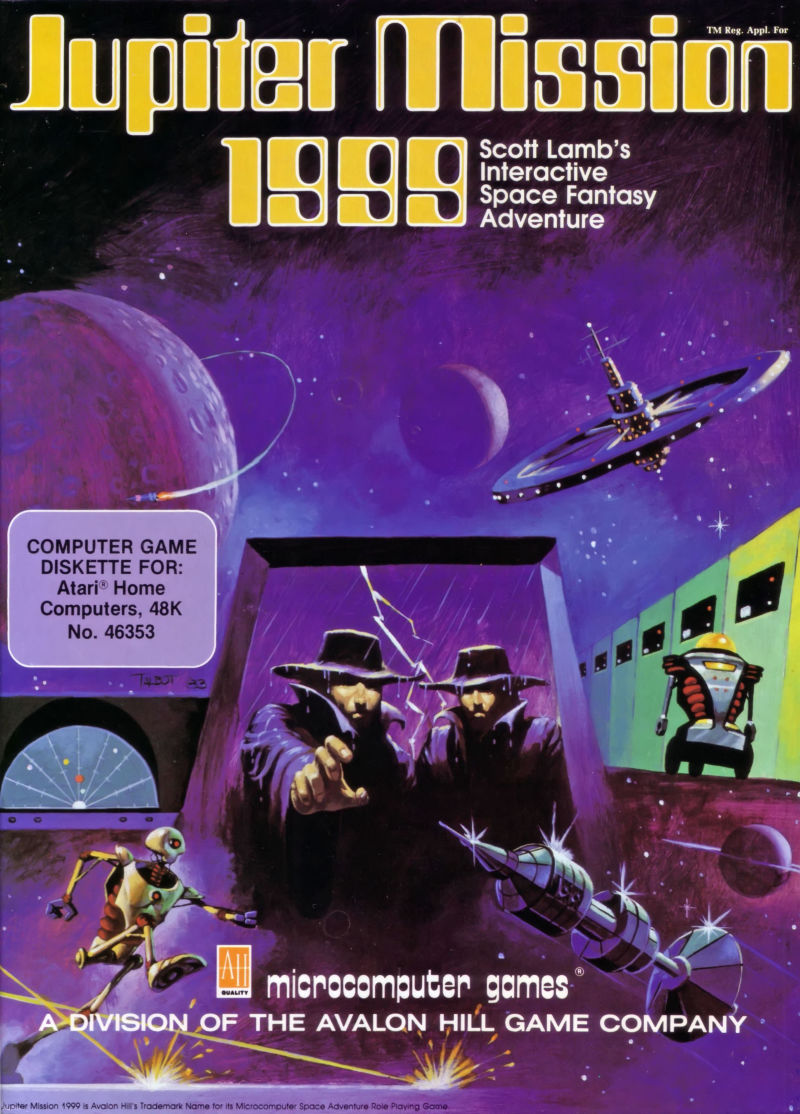 Jupiter Mission 1999 Atari 8-bit Front Cover