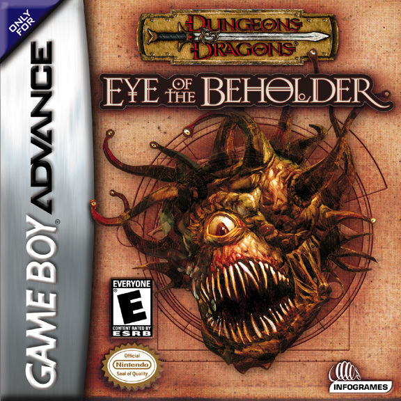 Dungeons & Dragons: Eye of the Beholder Game Boy Advance Front Cover