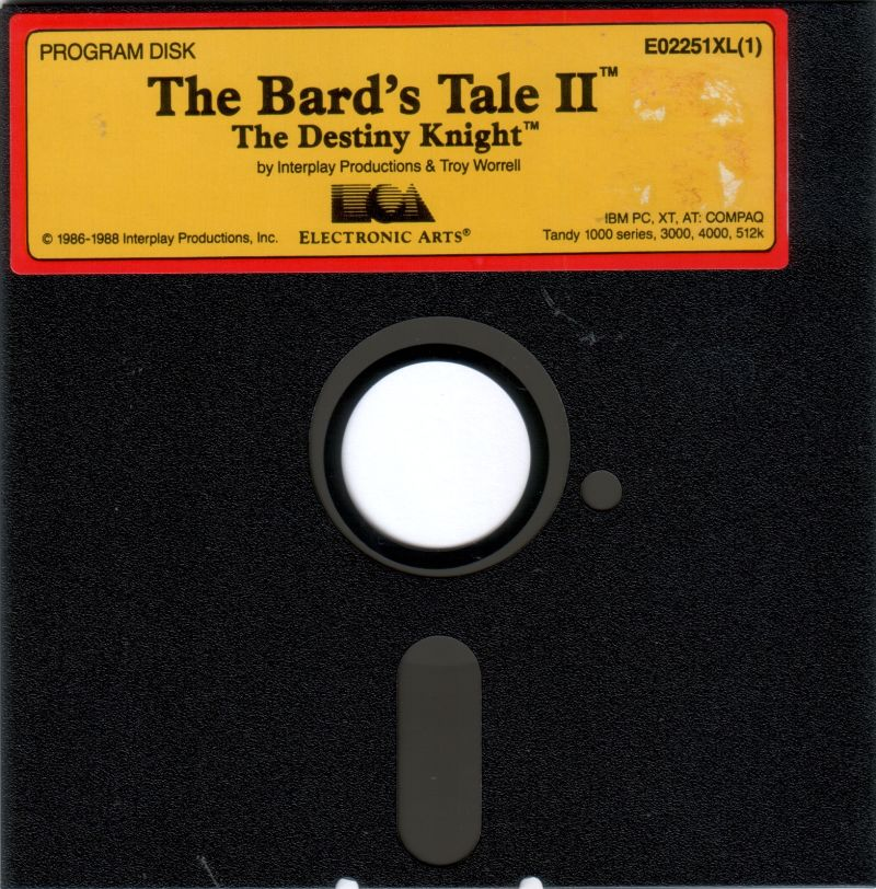 The Bard's Tale II: The Destiny Knight DOS Media Program Disk