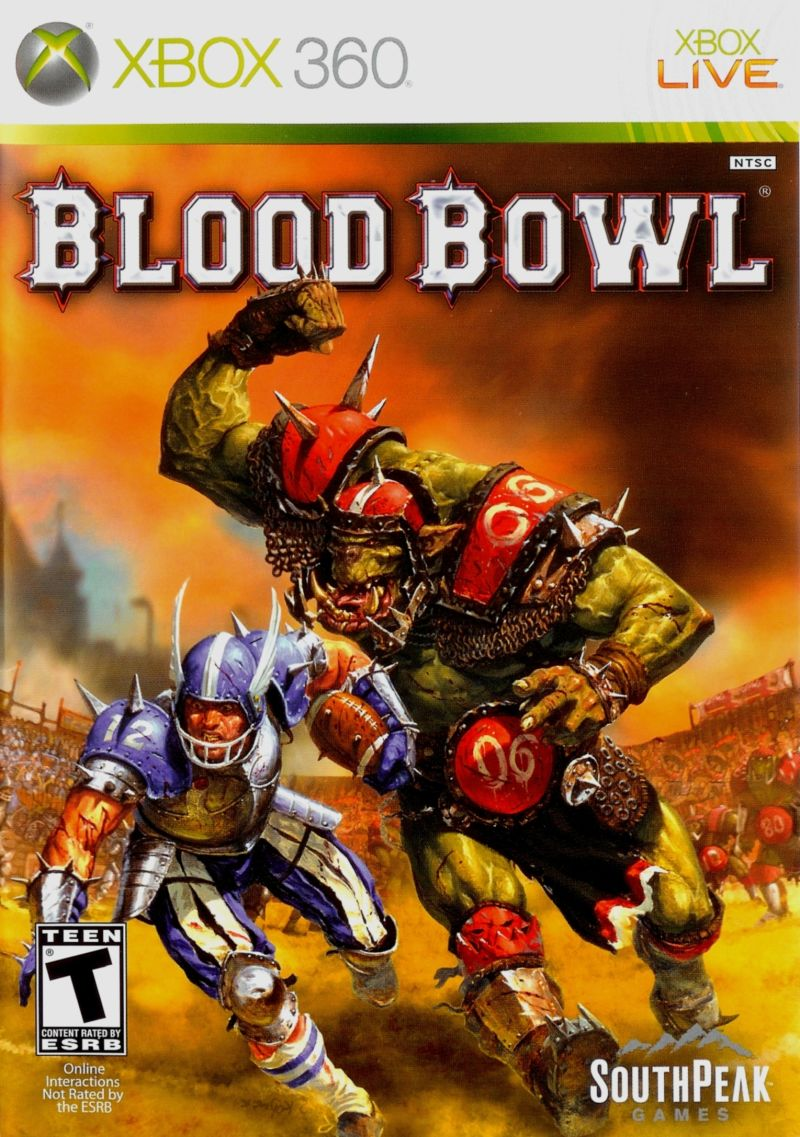 Blood Bowl Xbox 360 Front Cover