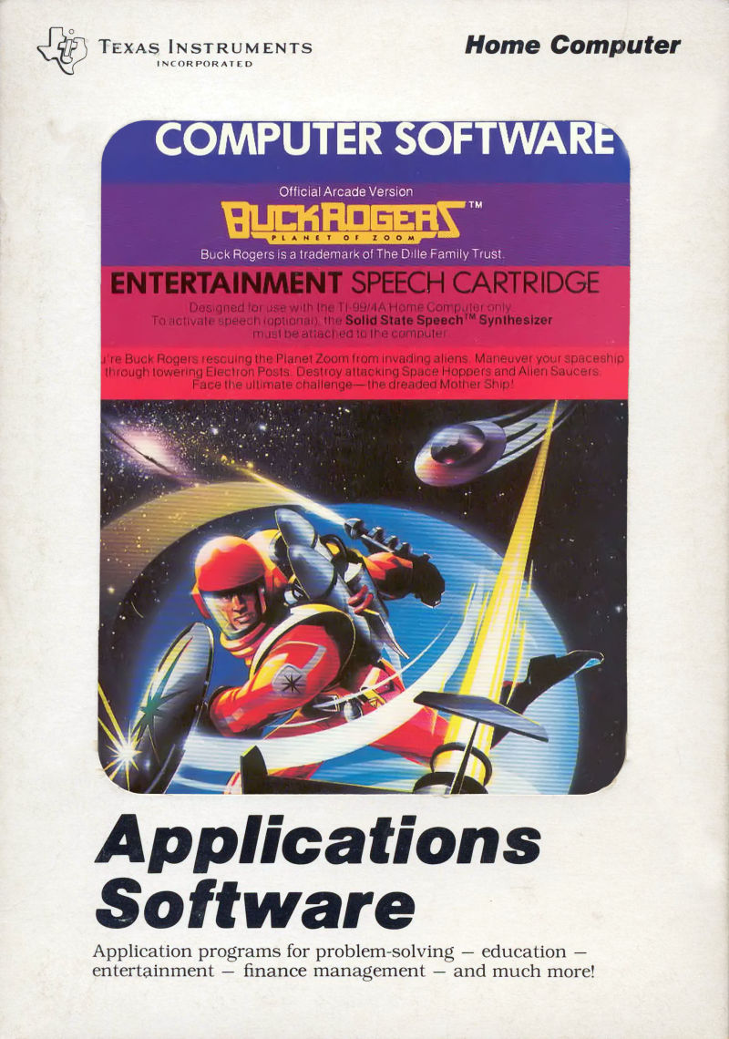 Buck Rogers: Planet of Zoom TI-99/4A Front Cover