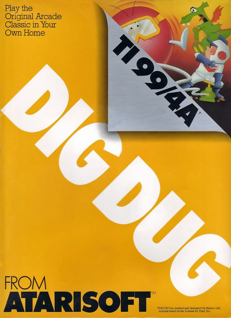 Dig Dug TI-99/4A Front Cover