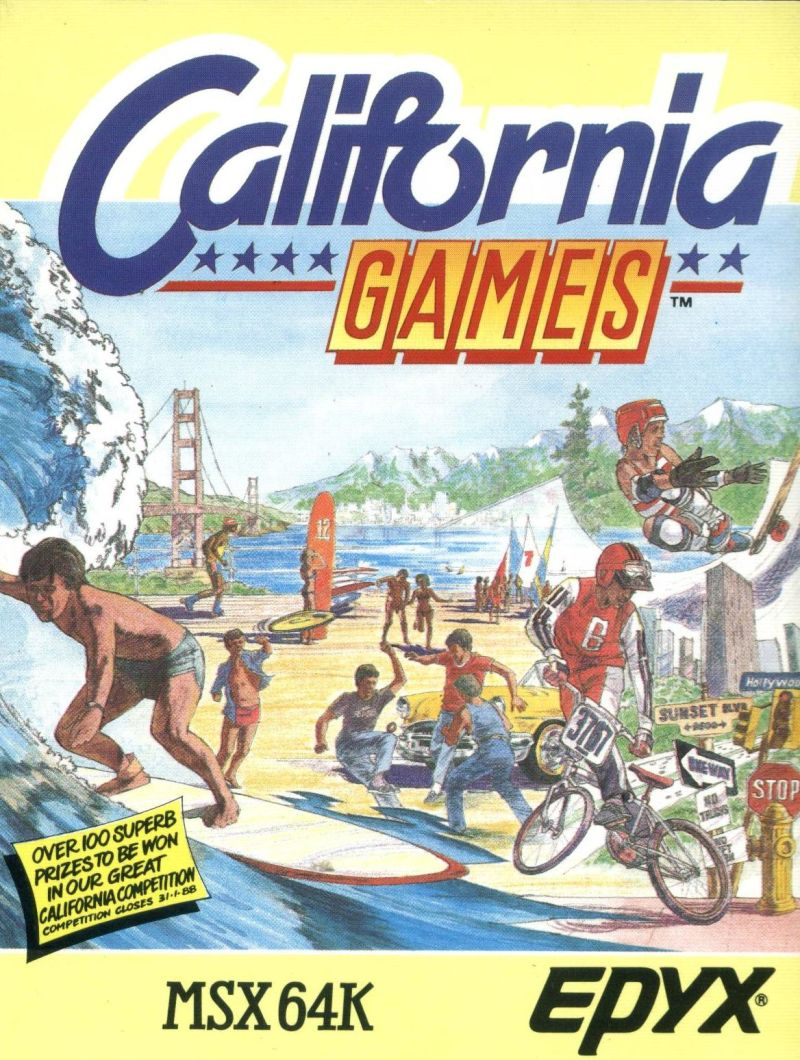 California Games MSX Front Cover