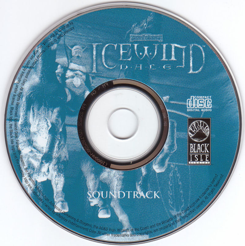 Icewind Dale: The Collection Windows Media Soundtrack CD-ROM, other CD's identical to the regular version CD's.