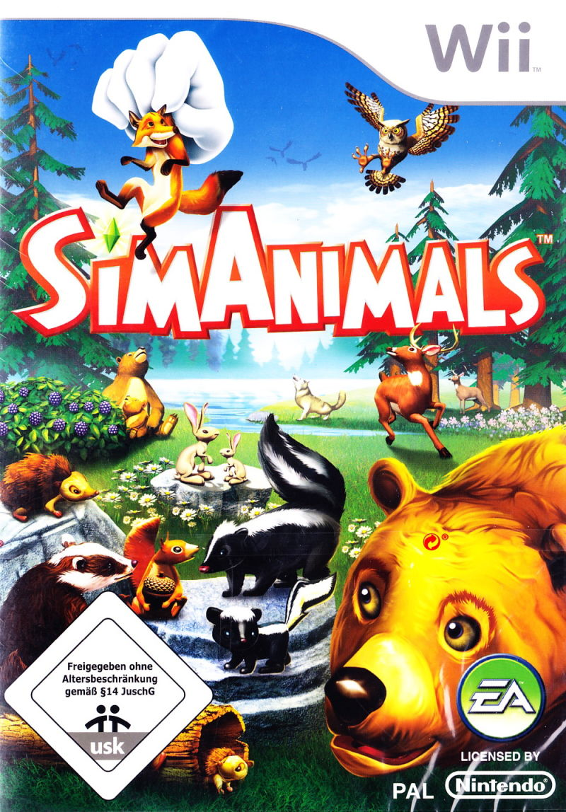 SimAnimals Wii Front Cover
