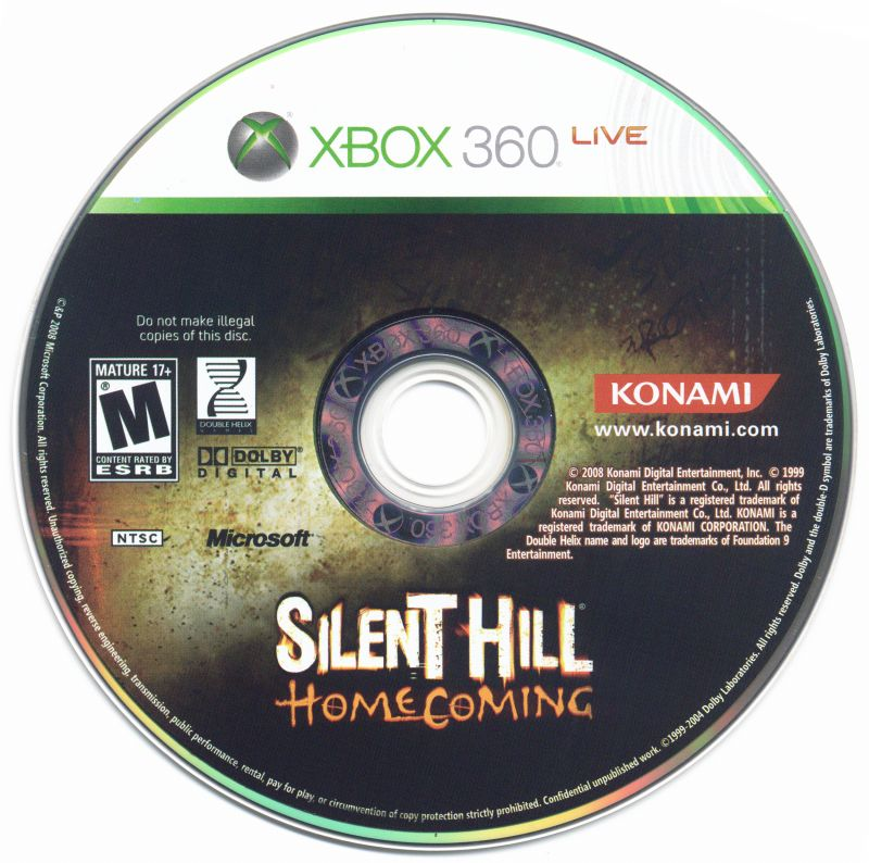 Silent Hill: Homecoming Xbox 360 Media