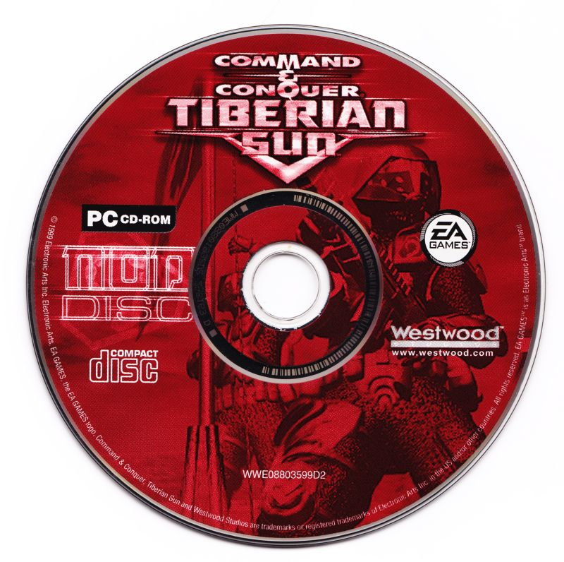 Command & Conquer: Tiberian Sun Windows Media Brotherhood of Nod disc