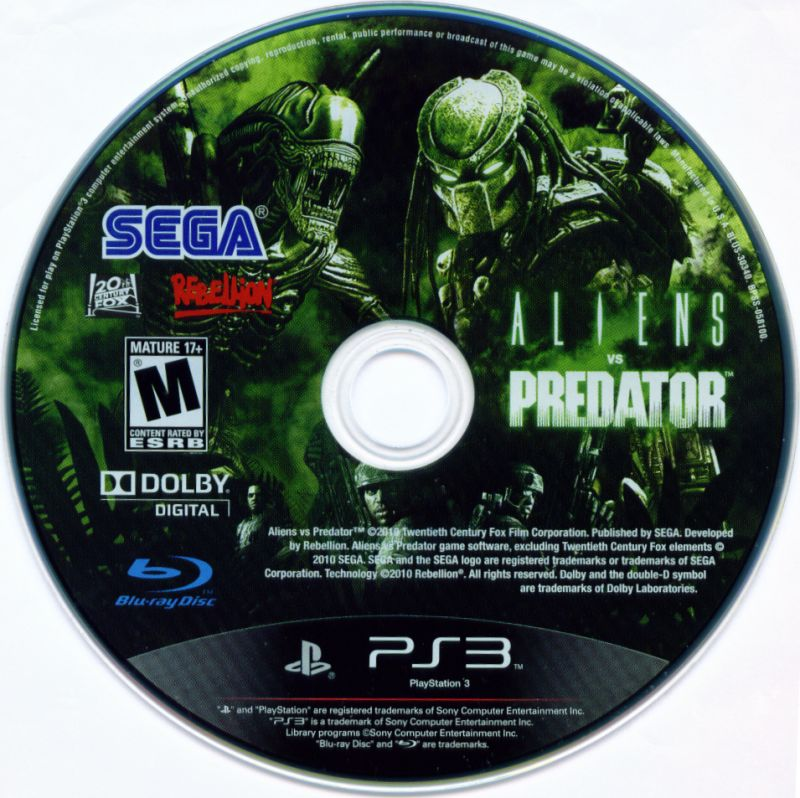 Aliens vs Predator PlayStation 3 Media