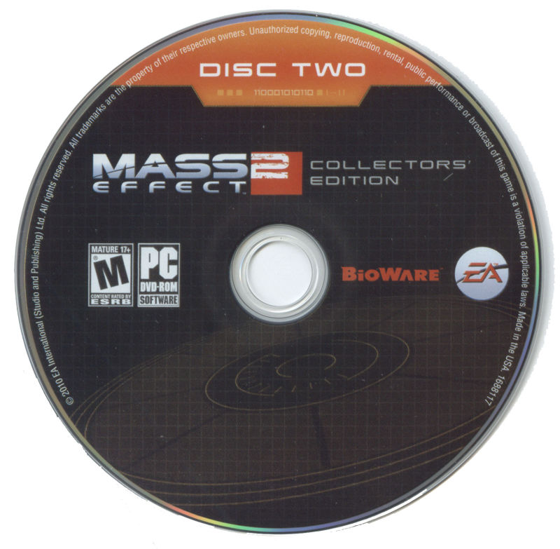 Mass Effect 2 (Collector's Edition) Windows Media Disc Two