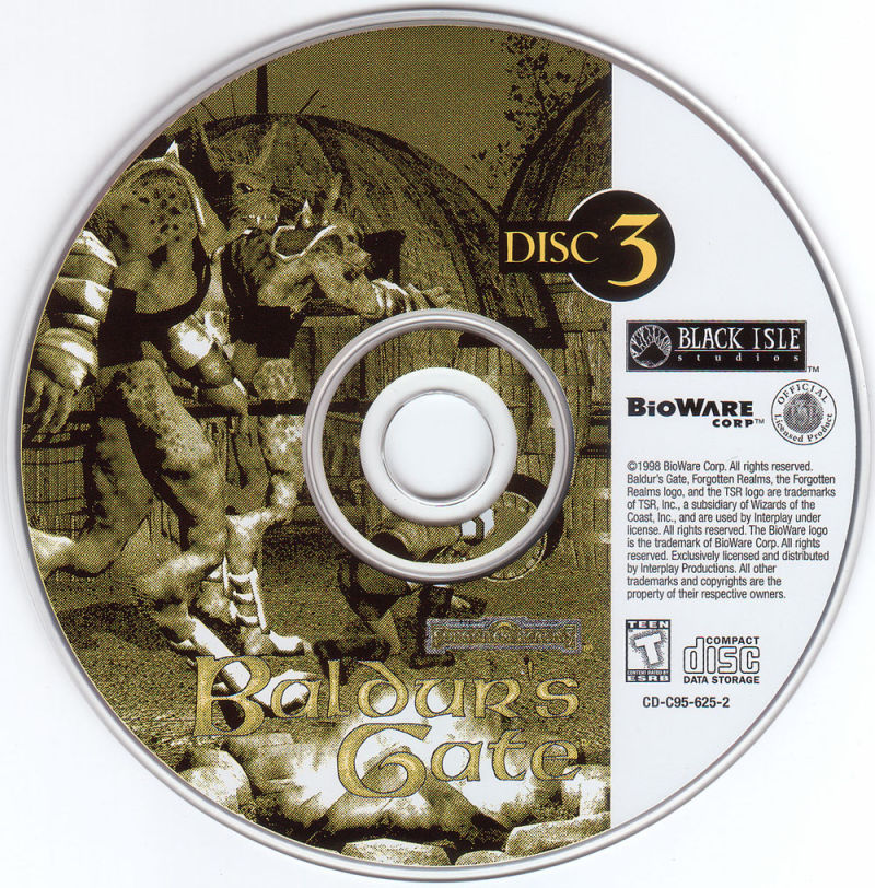 Baldur's Gate Windows Media Disc 3