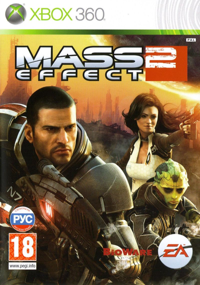 Mass Effect 2 Xbox 360 Front Cover