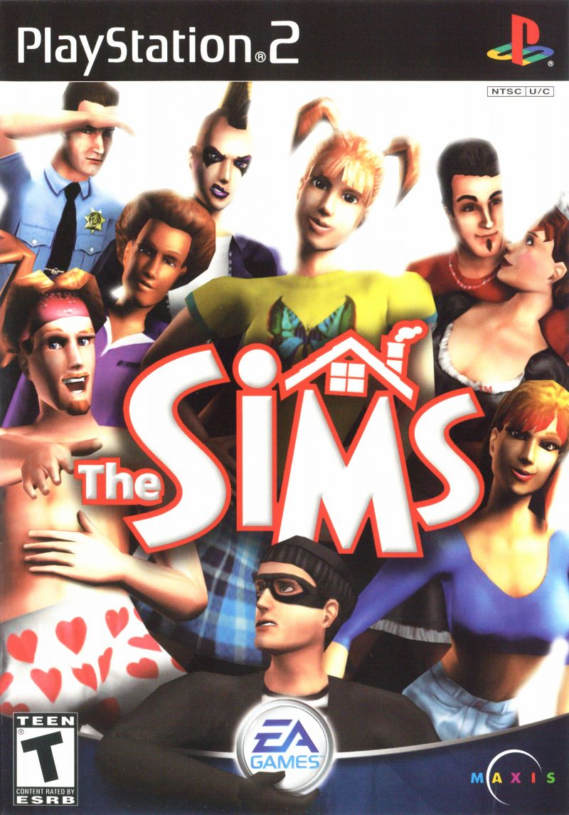The Sims PlayStation 2 Front Cover