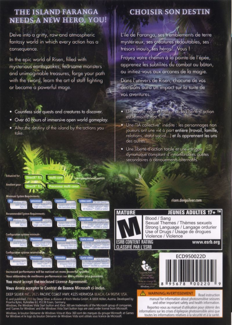 Risen Windows Back Cover