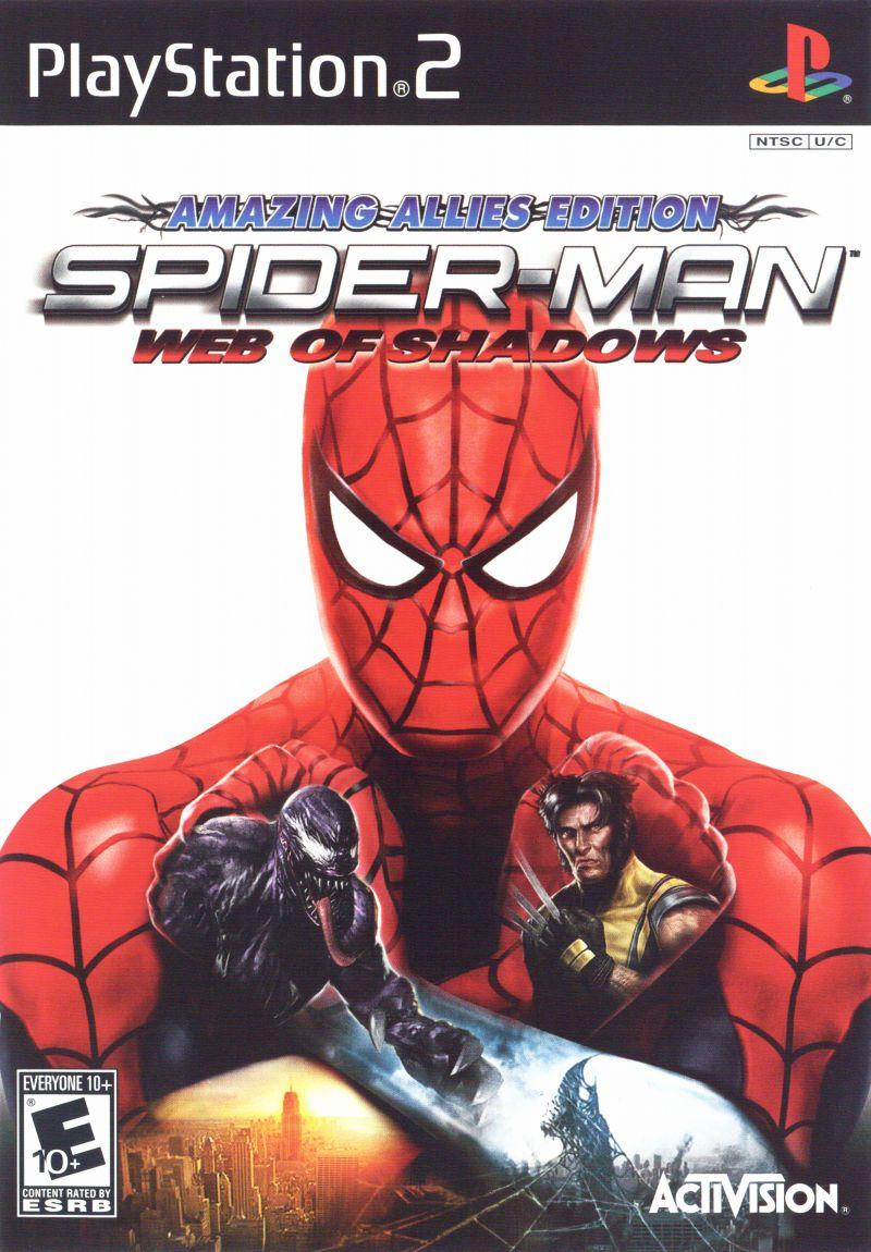 Spider-Man: Web of Shadows - Amazing Allies Edition PlayStation 2 Front Cover