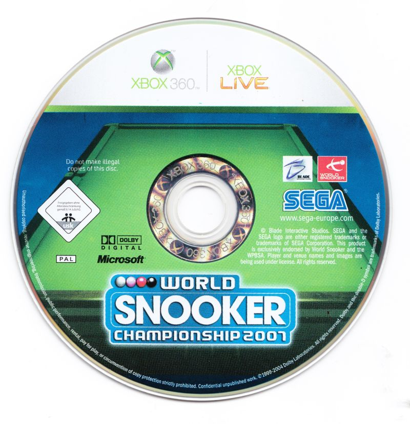 World Snooker Championship 2007 Xbox 360 Media