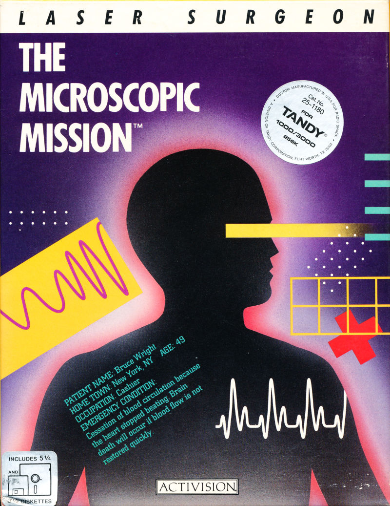 Laser Surgeon: The Microscopic Mission DOS Front Cover