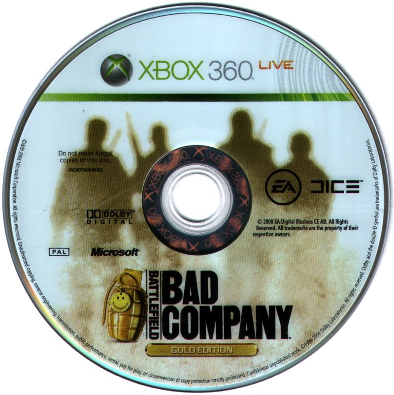 Battlefield: Bad Company (Gold Edition) Xbox 360 Media