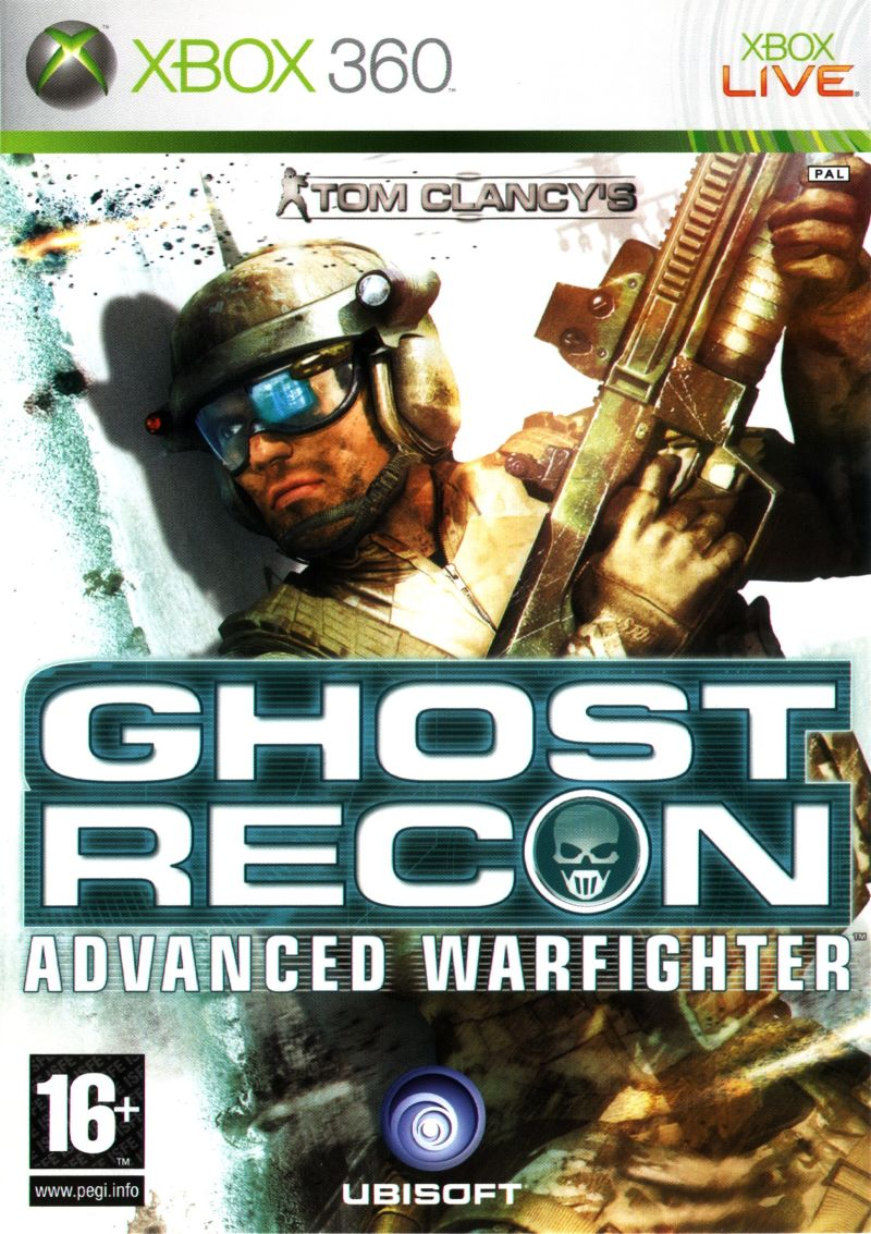 tom clancy's ghost recon: advanced warfighter (2006) xbox 360 box