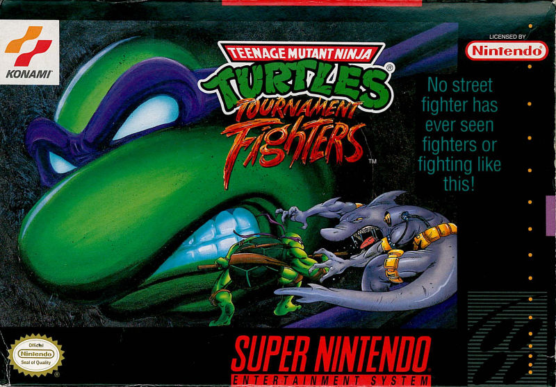 Teenage Mutant Ninja Turtles: Tournament Fighters SNES Front Cover