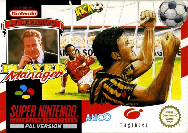Kevin Keegan's Player Manager SNES Front Cover