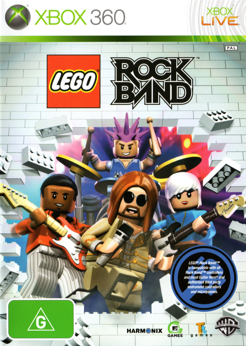 Lego Rock Band 2009 Playstation 3 Box Cover Art Mobygames