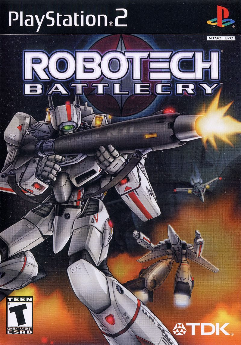 Robotech: Battlecry PlayStation 2 Front Cover